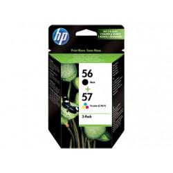 Pakke med 2 stk. HP 56 sorte/57 trefarvet Original Ink-blækpatroner (SA342AE)