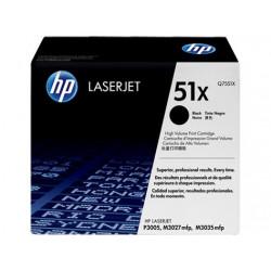 Original HP 51X LaserJet-tonerpatron med høj kapacitet, sort (Q7551X)