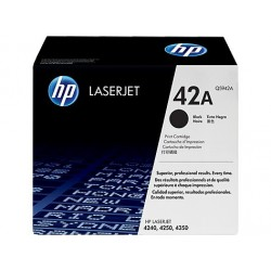 Original HP 42A LaserJet-tonerpatron, sort (Q5942A)