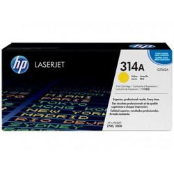 Original HP 314A LaserJet-tonerpatron, gul (Q7562A)