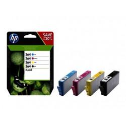 Originale HP 364  sort/cyan/magenta/gul, 4-pak (N9J73AE)