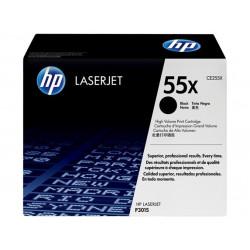 Original HP 55X LaserJet-tonerpatron med høj kapacitet, sort (CE255X)