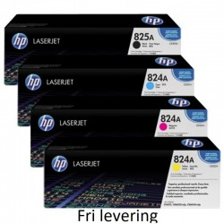 HP 824a/825a toner alle 4 farver