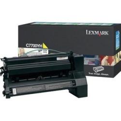 Original Lexmark C7700YH lasertoner, gul, 10000s