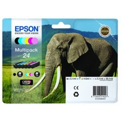 Epson 24 multipack bk/c/m/y/lc/lm 29,1ml original C13T24284011
