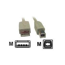 USB kabel - 4 PIN USB  A (M) - 4 PIN USB B (M) - 3 m grå