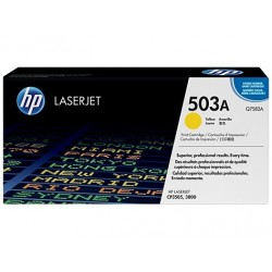 Original HP 503A LaserJet-tonerpatron, gul (Q7582A)