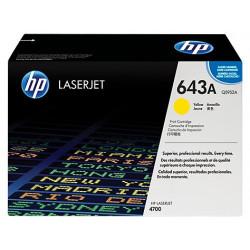 Original HP 643A LaserJet-tonerpatron, gul (Q5952A)