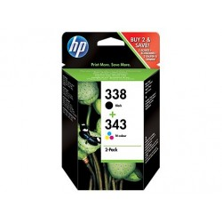Originale HP 338 sort/343 farvet, 2 pak (SD449EE)